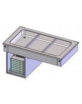 Piano refrigerato statico 2GN1/1 (vasca H 110 mm)