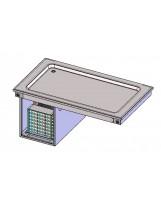 Piano refrigerato statico 2 GN1/1 (vasca H 30 mm)