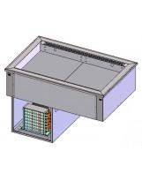 Piano refrigerato ventilato 4 GN1/1 (vasca regolabile)