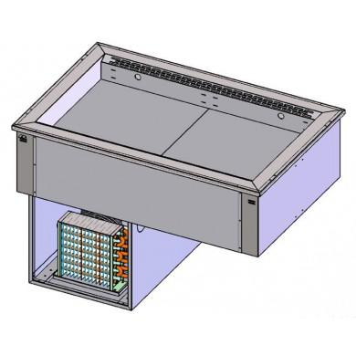Piano refrigerato ventilato 4 GN1/1 da incasso (vasca regolabile)