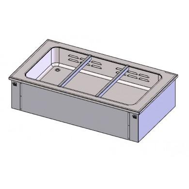 Piano caldo con vasca ventilata 2 bacinelle GN1/1