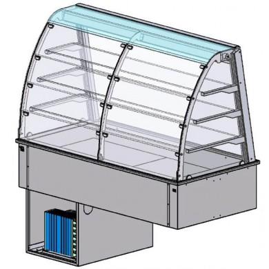 Vetrina refr. ventilata 3 GN1/1 p.te plexi lato cliente