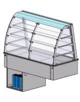Vetrina refr. ventilata 4 GN1/1 p.te plexi lato cliente