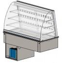 Vetrina refr. ventilata 2 GN1/1 p.ta vetro lato cliente