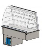 Vetrina refr. ventilata 4 GN1/1 p.ta vetro lato cliente