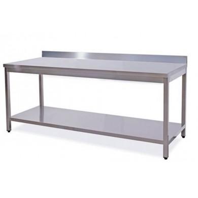 Tavolo su gambe con ripiano 140x80x85 cm