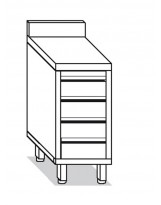 Cassettiera 4 cassetti 40x60x85 cm