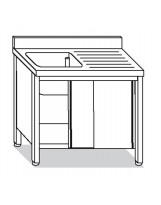 Su armadio 1 vasca, sgocciolatoio dx 130x60x85 cm