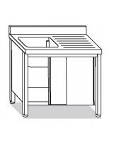 Su armadio 1 vasca, sgocciolatoio dx 130x70x85 cm