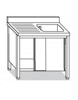 Su armadio 1 vasca, sgocciolatoio dx 140x70x85 cm