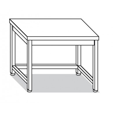 Tavolo su gambe e telaio 90x60x85 cm