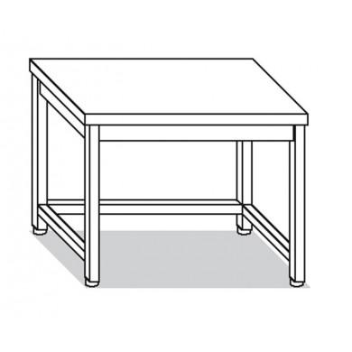 Tavolo su gambe e telaio 130x80x85 cm