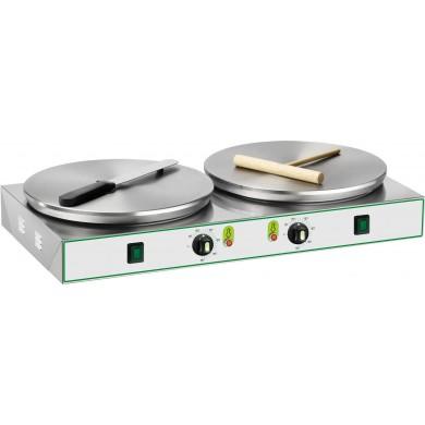 Crepiera elettrica professionale 2 piastre ø 35 cm