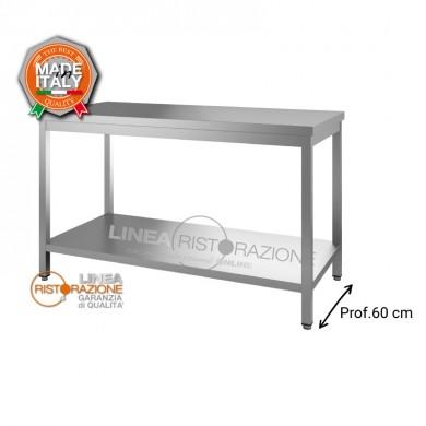 Tavolo su gambe con ripiano 140x60x85 cm