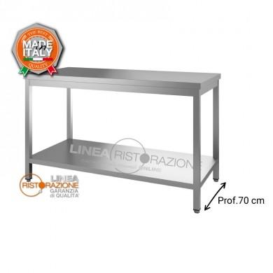 Tavolo su gambe con ripiano 140x70x85 cm