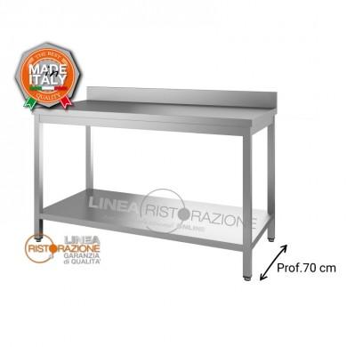 Tavolo su gambe con ripiano e alzatina 190x70x85 cm