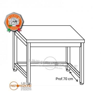 Tavolo su gambe con telaio 140x70x85 cm
