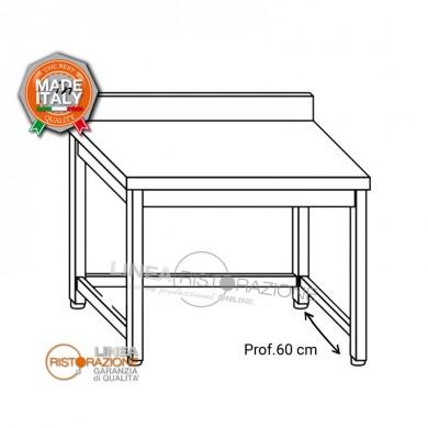 Tavolo su gambe con telaio e alzatina 210x60x85 cm
