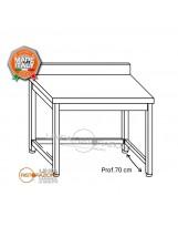 Tavolo su gambe con telaio e alzatina 80x70x85 cm