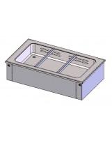 Piano Caldo Vasca Ventilata 3 bacinelle GN1/1