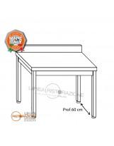 Tavolo su gambe e alzatina 130x60x85 cm
