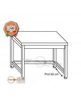 Tavolo con cornice su 3 lati 160x60x85 cm