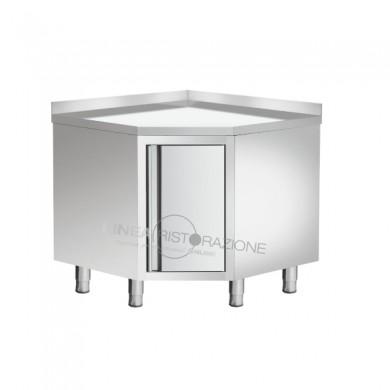 Tavolo Armadiato ad Angolo Porta Battente con alzatina 100x100x95 cm
