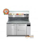 Banco pizza 2 porte con Vetrina Refrigerata GN1/3
