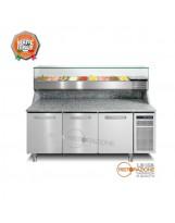 Banco pizza 3 porte con Vetrina Refrigerata GN1/3