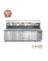Banco pizza 4 porte con Vetrina Refrigerata GN1/3