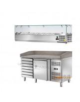 Banco pizza 1 porta, Cassettiera e Vetrina GN1/3