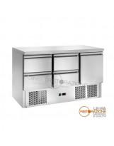 Saladette Refrigerata 4 Cassetti + 1 Vano con Porta