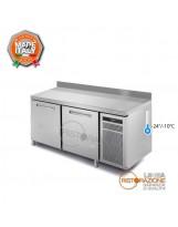 Tavolo congelatore 2 porte con Piano e Alzatina Temp. -24°/-10°C