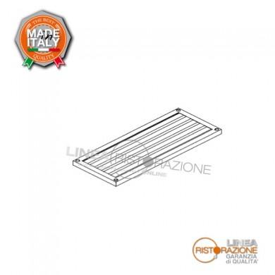 Ripiano grigliato per scaffale 150x60x4 cm in acciaio inox 304