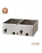 Bagnomaria GN1/1 Altezza Utile 2 Vasche 20 cm
