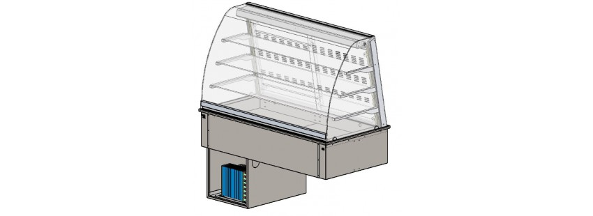 Drop in vetrine refrigerate ventilate