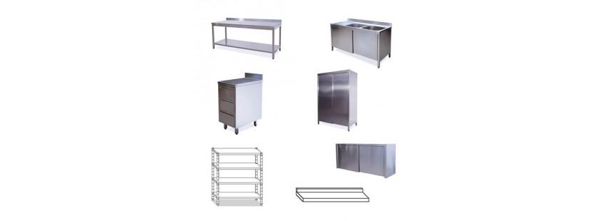 Arredamento Cucine in Acciaio Inox - Linea MEDIUM in Acciaio Inox AISI 441 + 304