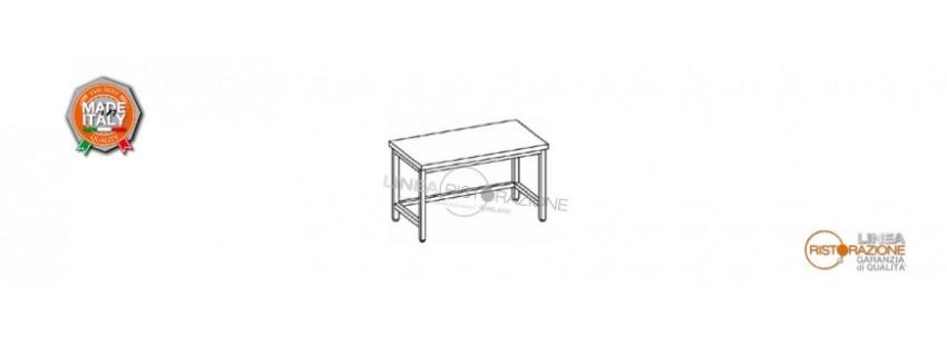 Tavoli con Cornice su Tre Lati Prof. 60 cm in Acciaio Inox 304