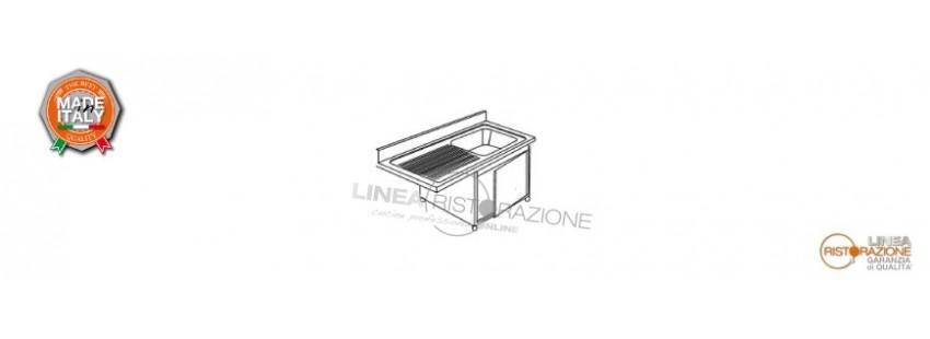 Lavelli Armadiati e Incasso Lavastoviglie Prof. 70 cm in Acciaio Inox 304